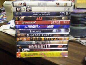 (18) Will Smith DVD Lot: (2) MIB Ali Hancock Hitch (2) Bad Boys Fresh Prince