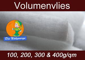 Volumenvlies 100g- 600/m² // Wattevlies Polsterwatte Stepp Polyestervlies Diolen