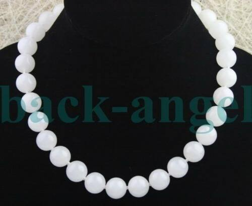 environ 45.72 cm Nature Blanc 12 mm Blanc Jade Perles Jade Collier Cordons Cordes 18 in