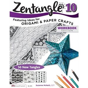 Zentangle 10 Line Drawing Altered Art Paper Craft Idea Book Origami