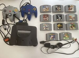 Nintendo 64 N64 Console Bundle - 2 Controllers & 11 Top Games - Zelda Mario Kart