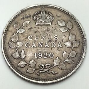 1920 Canada Small 5 Five Cents Silver Circulated Canadian Coin D429 Ebay