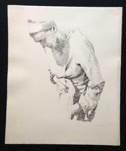 Carl-Timmer-signora-araba-litografia-1974-a-mano-firmato-e-datato