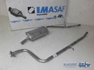 IMASAF Auspuff Set Mittelrohr + Endtopf für Fiat Panda 4x4 1.0 (141A) 1986-1992