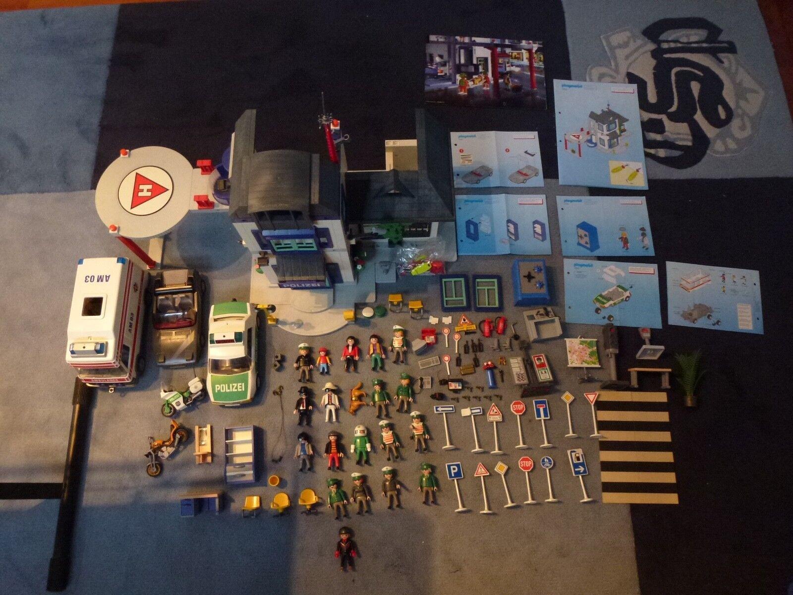 Playmobil - Große Polizeistation mit viel Zubehör - Produktnummer 3988