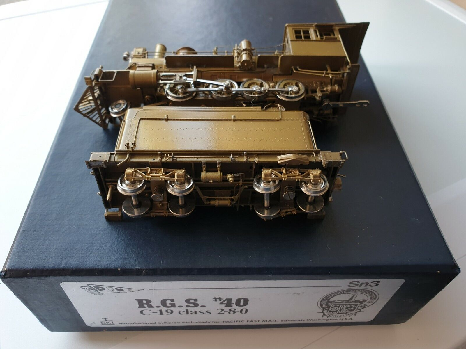 SKI FOR PFM SN3 RGS 40 C-19 CLASS 2-8-0 BRASS LOCOMOTIVE