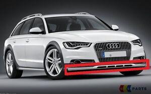 Nuevo-Genuino-Audi-A6-C7-Allroad-13-17-INFERIOR-PARACHOQUES-DELANTERO-Ribete-De-Barra-De-Acero