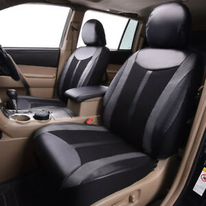 universal-delux-faux-leather-PU-mesh-2-fronts-car-seat-covers-breathable