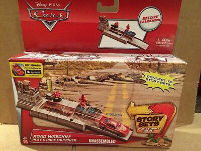 DISNEY CARS Story Sets Road Wreckin/' Play /& Race Launcher