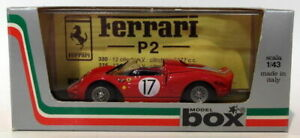Caja-Modelo-1-43-escala-Diecast-8459-Ferrari-365-P2-17-Le-Mans-1965-Rojo