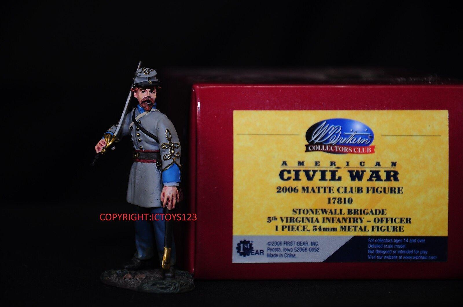 BRITAINS 17810 AMERICAN CIVIL WAR 5TH VIRGINIA OFFICER METAL METAL METAL TOY SOLDIER FIGURE 22beb1
