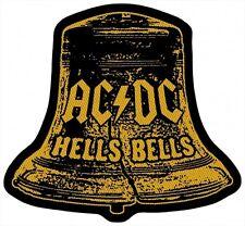 AC/DC ACDC - Patch Aufnäher Hells Bells Cut Out 9x10cm