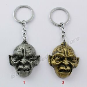 The-Lord-Of-The-Rings-The-Hobbit-Gollum-Mask-11cm-Key-Ring-Chain-New-In-Box