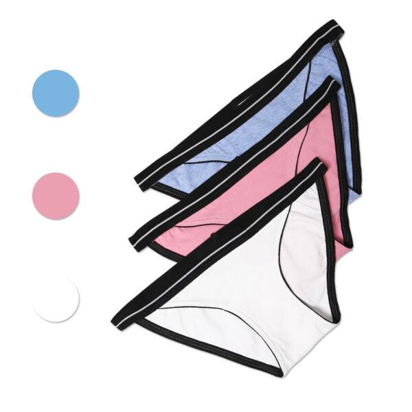 3er Damen Unterwäsche Panty Slips Unterhosen Spitzenslip Baumwolle Schlüpfer