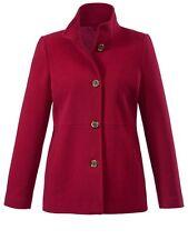 Woll Jacke mit Kaschmir Winter Damen Trench Warm Mantel Winterjack rot Gr. 40