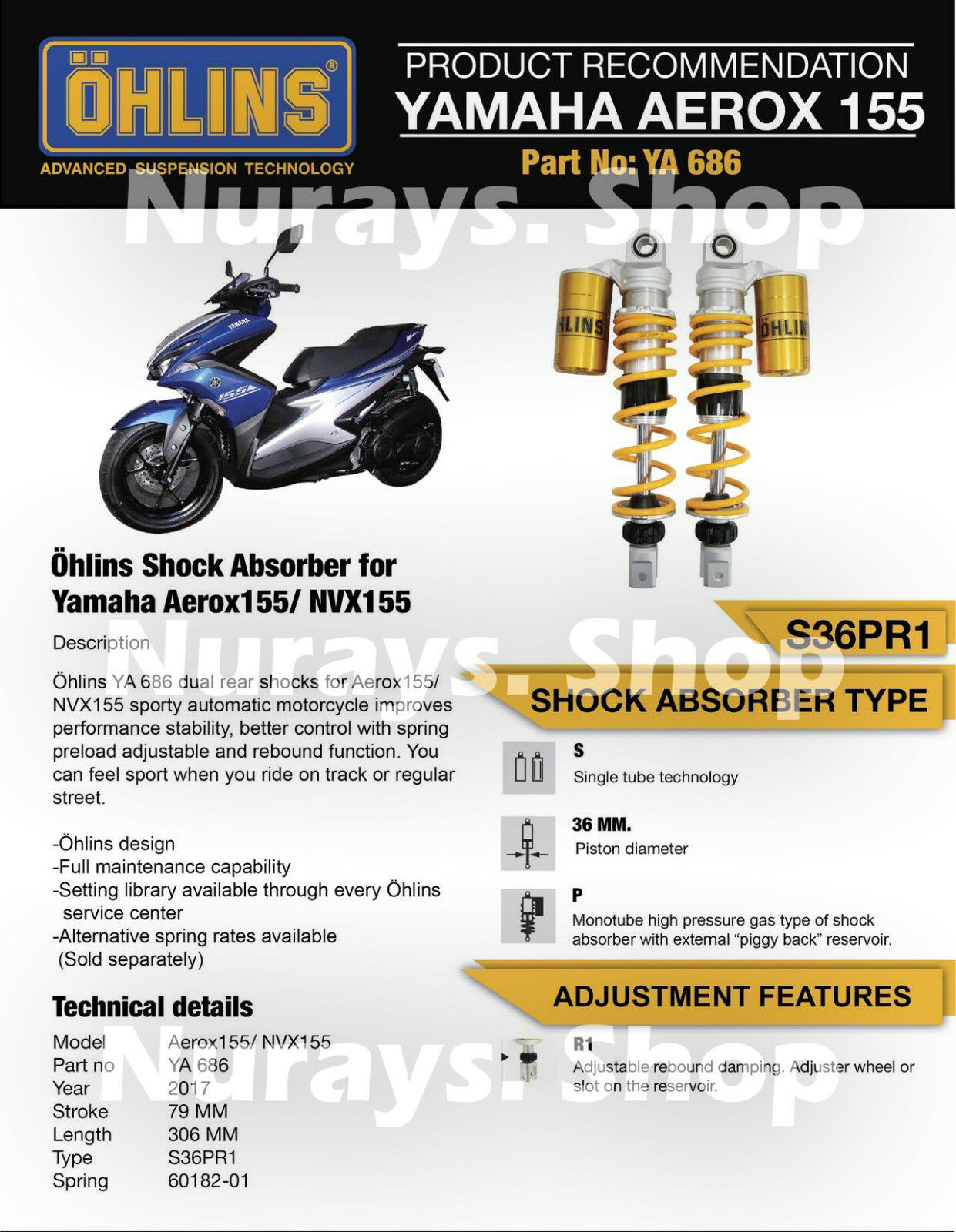 Yamaha NVX/ Aerox 155