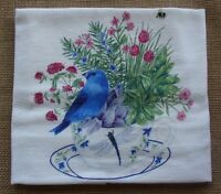 Alice's Cottage Flour Sack Towel - Bluebird, Teacup With Flowers, Dragonfly