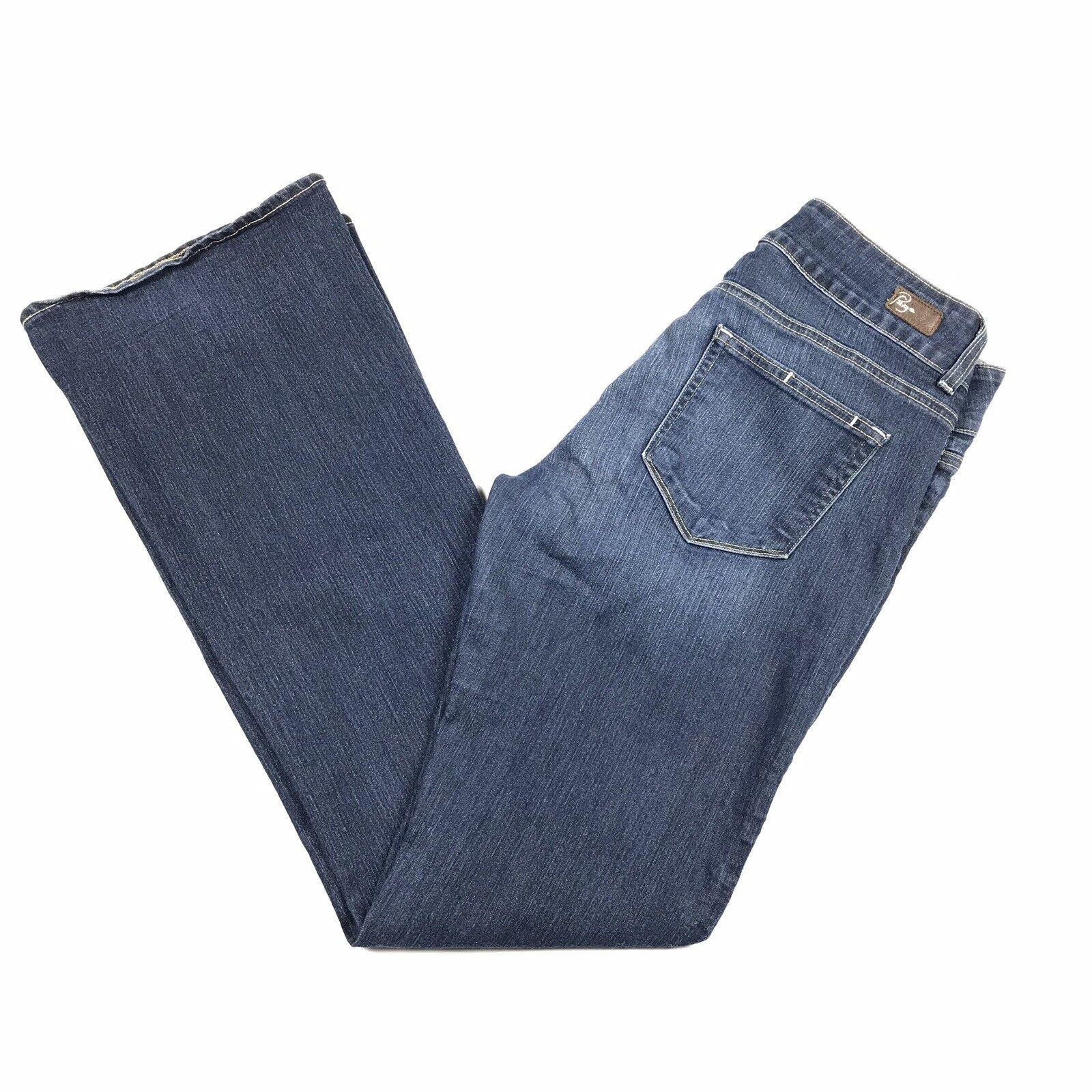 Paige Women's H.H. Hidden Hills Dark Wash Stretch Denim Boot Cut Jeans Size 30