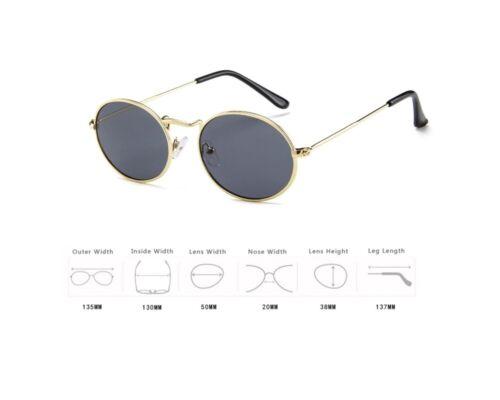 Unisex Metal Frame Oval Shape Classic Retro Trendy Sunglasses Glasses Frames UK