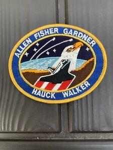ALLEN-FISHER-GARDNER-HAUCK-WALKER-NASA-SPACE-SHUTTLE-EMBROIDERED-PATCH-5-034-x-4-034