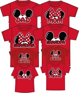 c06485e9855d16 Authentic Mom And Dad And Family Mickey Head Disney funny cute T ...