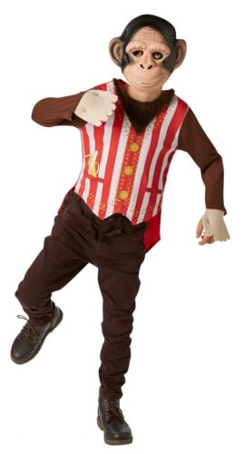 Fantastic Boys Brown Mr Monkey Animal Book Day Fancy Dress Up Costume Outfit