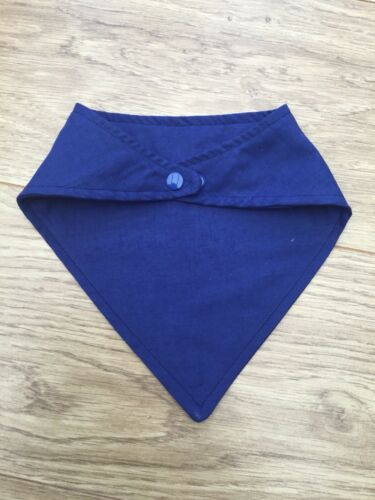 Plain embroidery blanks Royal Blue Cotton baby Dribble Bib 0-6 6-12 Months