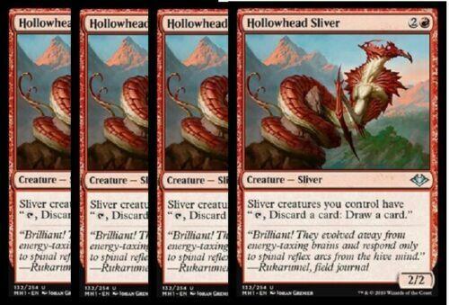 4x Hollowhead Sliver Modern Horizons Red Uncommon NM