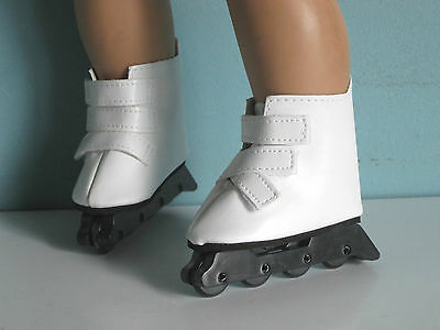 Debs WHITE Ice Skates Doll Shoes For Chatty Cathy