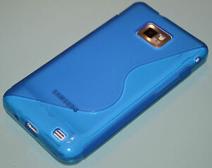 Blue-S-Line-For-Samsung-Galaxy-S2-i9100-TPU-Gel-Silicone-Case-Cover-Skin