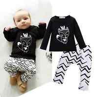 Baby Kinder Bekleidung Set Geschenk Fuchs Tiere Mädchen Junge Shirt Hose 74 / 80