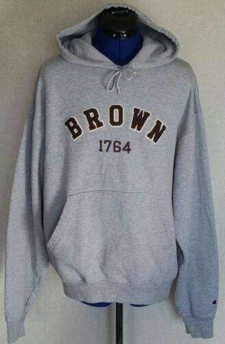 Vintage Champion Brown University Hoodie Sweatshir