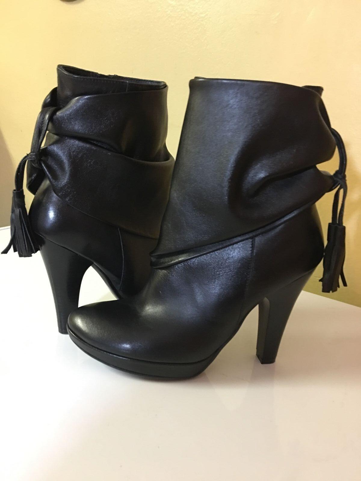 QUAZI WOMEN'S WOMEN'S WOMEN'S BLACK BOOTS SZ EU 37 US 6.5 6f2382