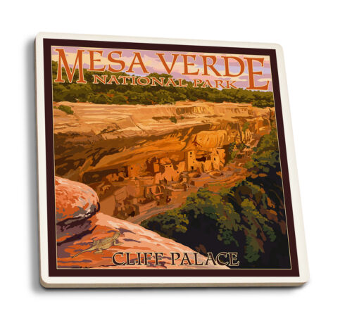 LP Artwork Posters, Wood /& Metal Signs Mesa Verde CO Cliff Palace at Sunset