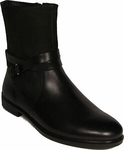 ECCO-shoes-city-boots-model-TOUCH-15-B-mid-cut-black-leather-NEW