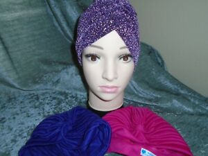 af07651bae227 Ladies Lot of 3 Cancer Chemo, Alopecia,Hair Loss,Turban,Hijab ...