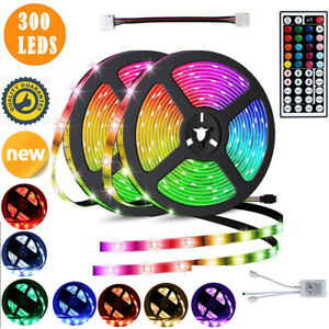 20M Flexible Strip Light 3528 RGB LED SMD Remote Fairy Lights Room TV Party