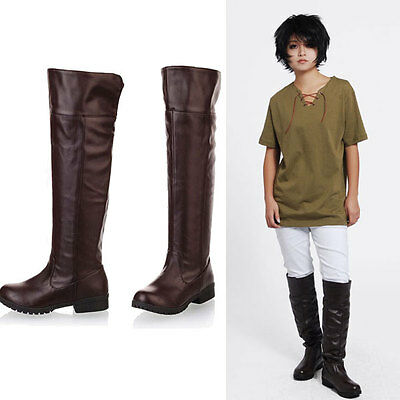 Anime Eren Jaeger Cosplay Attack on Titan Shingeki no Kyojin Unisex Shoes Boots