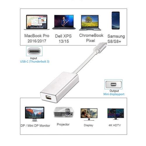 USB C to Mini DP 4K 60Hz Type C to Mini Display Port Adapter for MacBook Pro