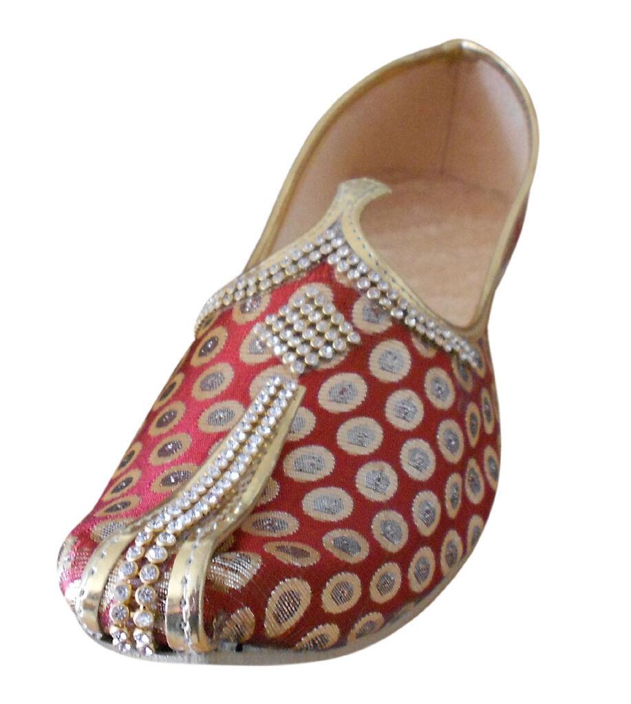Mojari Indian Men Shoes Handmade Wedding Sherwani Loafers & Slip Ons US 6-12