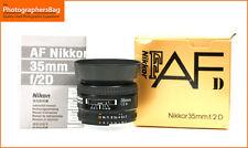 Nikon 35mm F2 D messa a fuoco automatica focale fissa + spedizione gratuita nel Regno Unito