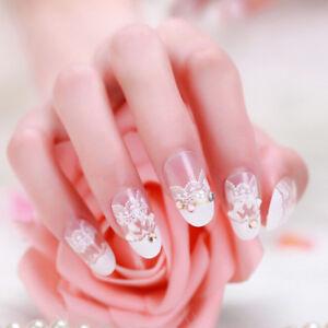24Pcs-Acrylic-design-french-nail-full-cover-nail-tips-false-art-crystal-dia-AF