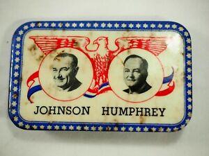 Johnson-y-Humphrey-Politico-Campaign-Escasa-Cuadrado-Boton-Pin