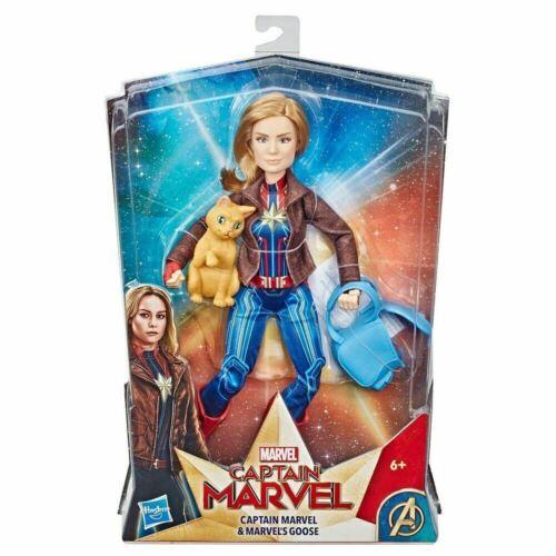 Hasbro Marvel Capitán Marvel Deluxe héroe Muñeca Con Ganso Vinilo Figura De Acción