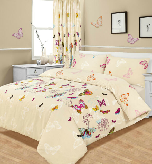 Butterfly Duvet Cover with Pillowcase Quilt Cover Bedding Set Single Double King