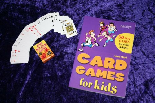 CARD GAMES SET teach your children kids OLD FASHIONED old maid donkey whist etc