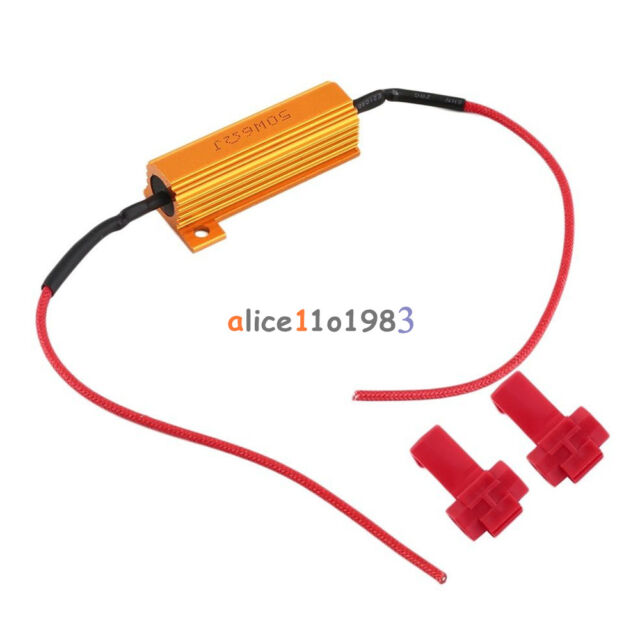 LED Load Resistor Warning Decoder 5W-50W 6Ω With Two Cancellers For 12V Cars