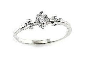 Real-Silver-amp-Cubic-Zirconia-Ring-Size-6-L-M-NEW-RRP-20