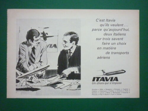 1974 PUB COMPAGNIE ITAVIA ITALIAN AIRLINE MCDONNELL DC-9 AIRLINER FRENCH AD