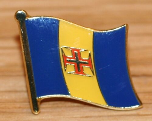 MADEIRA Islands Portugal Country Metal Flag Lapel Pin Badge